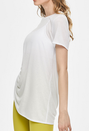 Soften Flow Shirring Short Sleeve