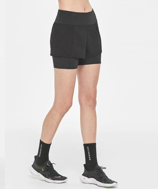 Flex leggings short pants - Black