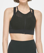 Move Full Zip-Up Short Bra Top