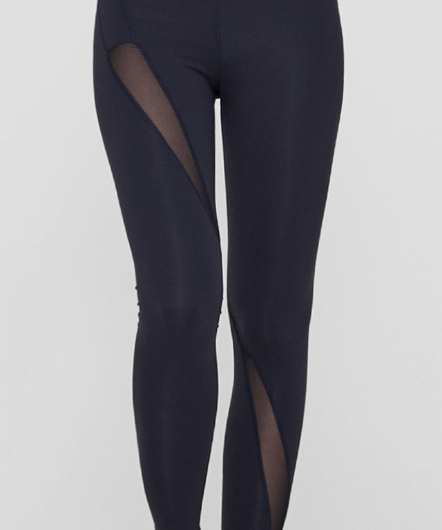 Oblique Mesh Panel Leggings