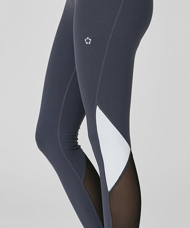 Bias Line Mesh Inset Leggings - Mulawear USA