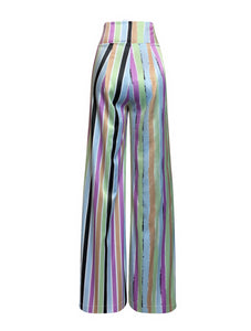 Flyyer Multi Stripe Wide Leg Trousers