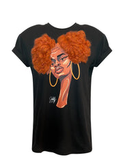 LIMITED EDITION NAOMI AFRO PUFFS T-SHIRT