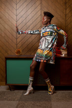 "Load image into Gallery viewer, Bevi Sequins ""Harlem"" Mini Dress"
