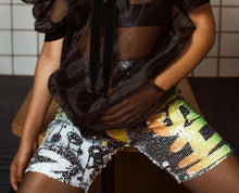 Load image into Gallery viewer, Parker Sequins Biker Shorts