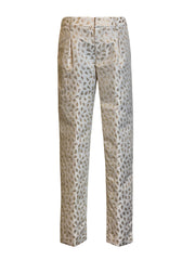 Front of white relaxed fit cropped pants