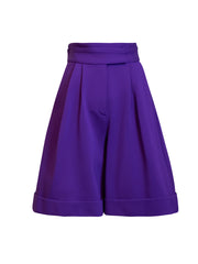 Front of purple Lizette wide leg shorts