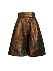 Front of bronze Lizette wide leg shorts