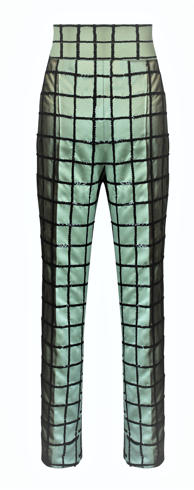 BRIA SEQUINS EMBELLISHED TROUSERS