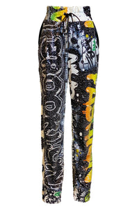 "Aubri Sequins ""Brooklyn"" Skinny Joggers"