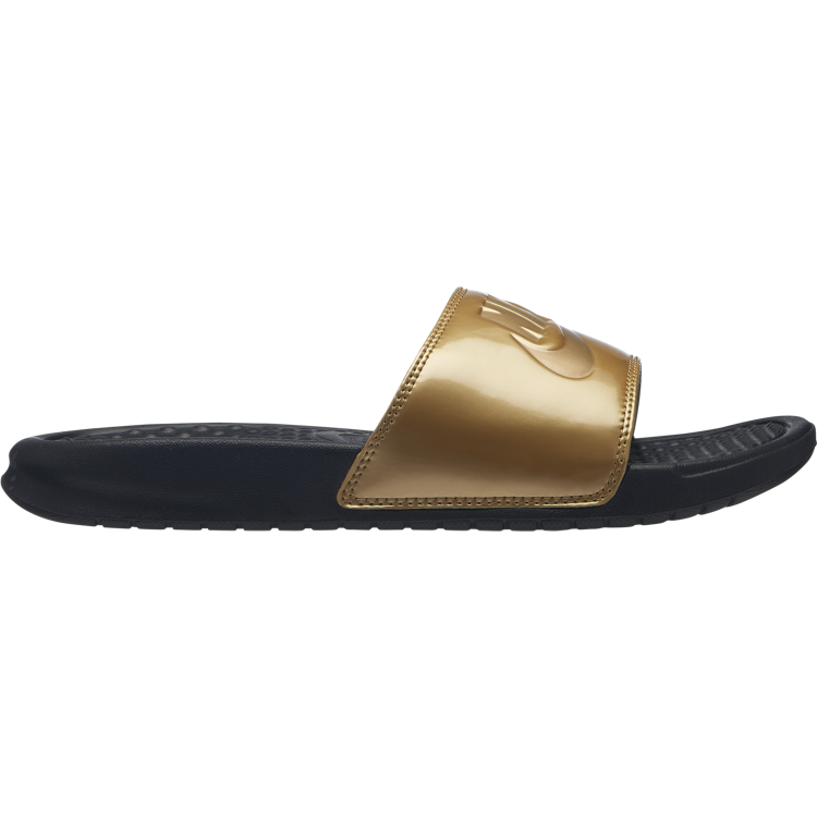 Nike Women's Benassi Slide 'Just Do It / Gold'