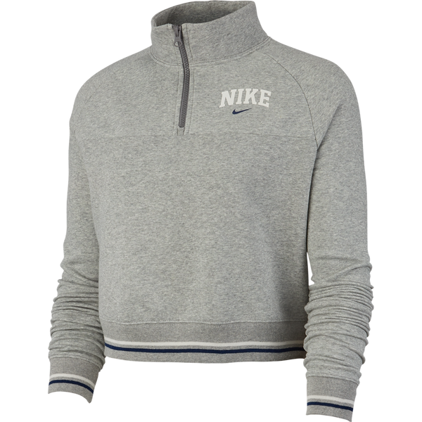 Nike Women's 1/2 Zip Fleece Top 'Dark Grey Heather'