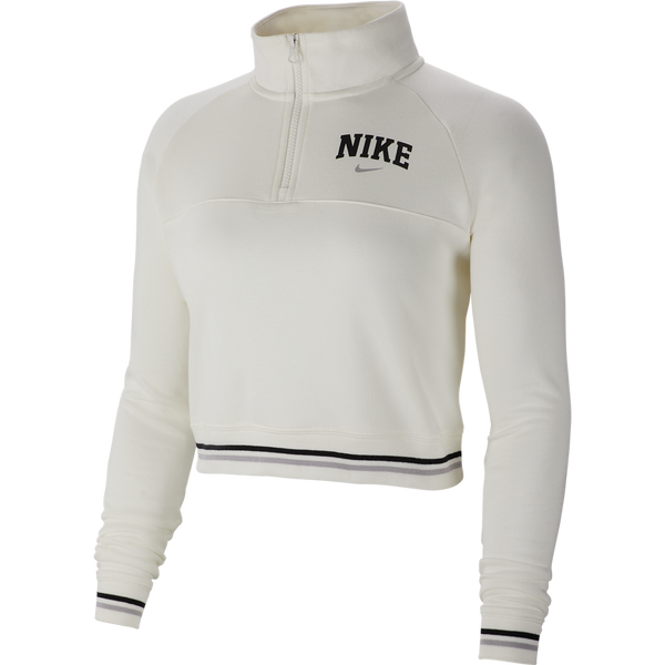 Nike Women's 1/2 Zip Fleece Top 'Sail'