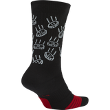Nike Elite Sock Graphic 'Dimes Black/Red'
