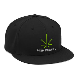 High Profile Flat Brim Hat – Black