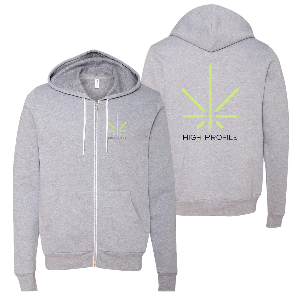 High Profile Icon Zip - Athletic Heather