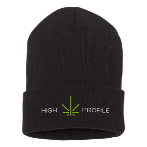 High Profile Beanie w/ Cuff – Black