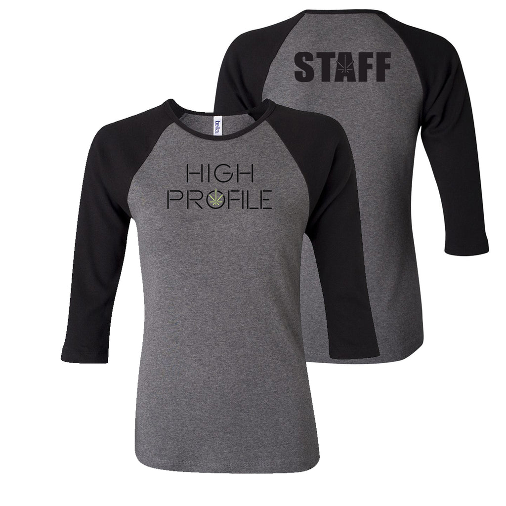 LADIES TEAM JERSEY TEE - GREY/BLACK (STAFF ONLY)