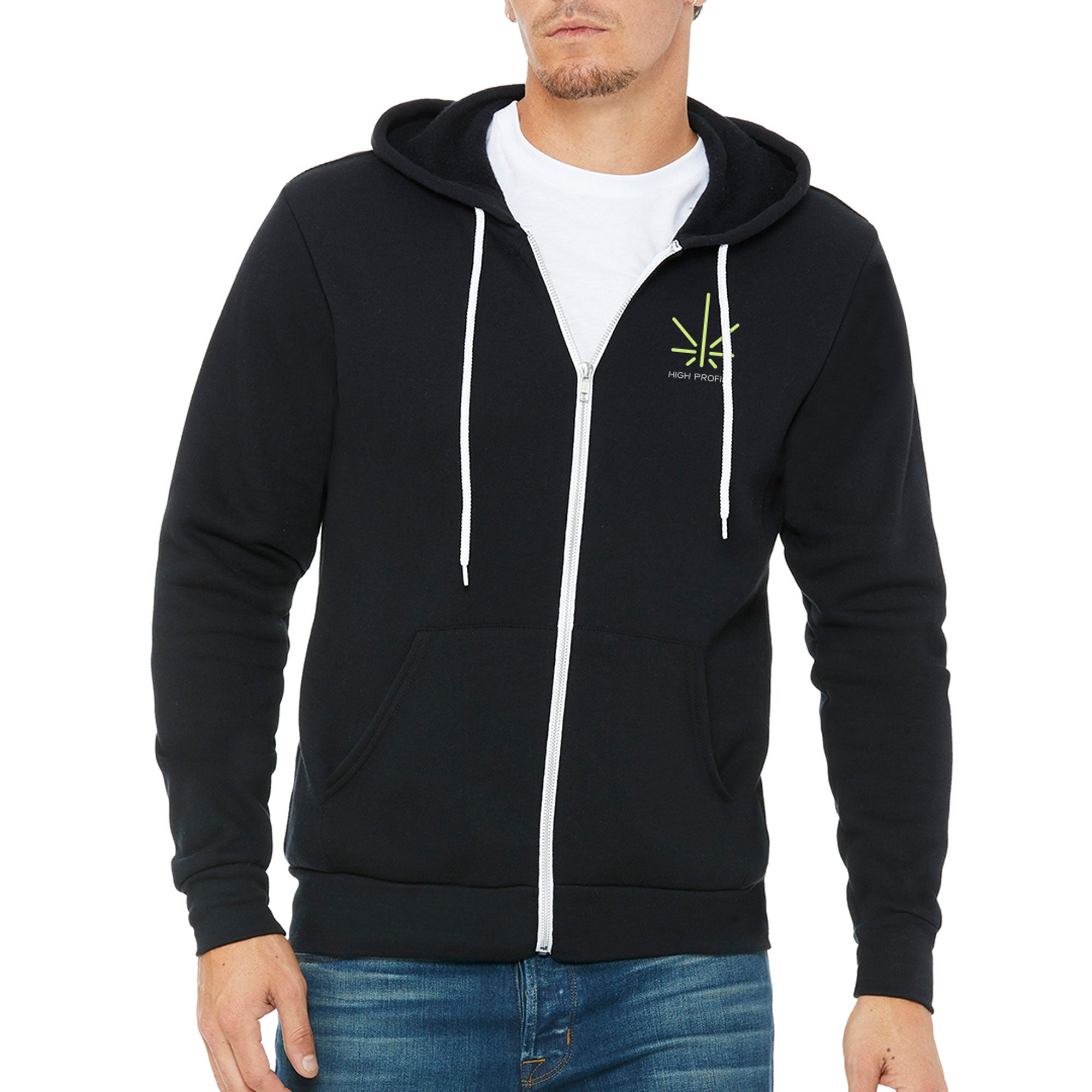 High Profile Icon Zip - Black