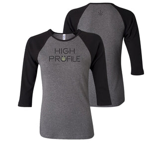 LADIES TEAM JERSEY TEE - GREY/BLACK
