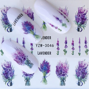 Nails Lavender Stickers - Trending products for less