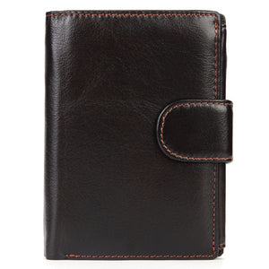 Genuine Leather Short Wallets for Male - Trending products for less