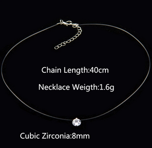 Rhinestone Chocker Necklace Pendant - Trending products for less