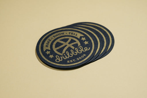 Letterpressed coasters (4-pack)