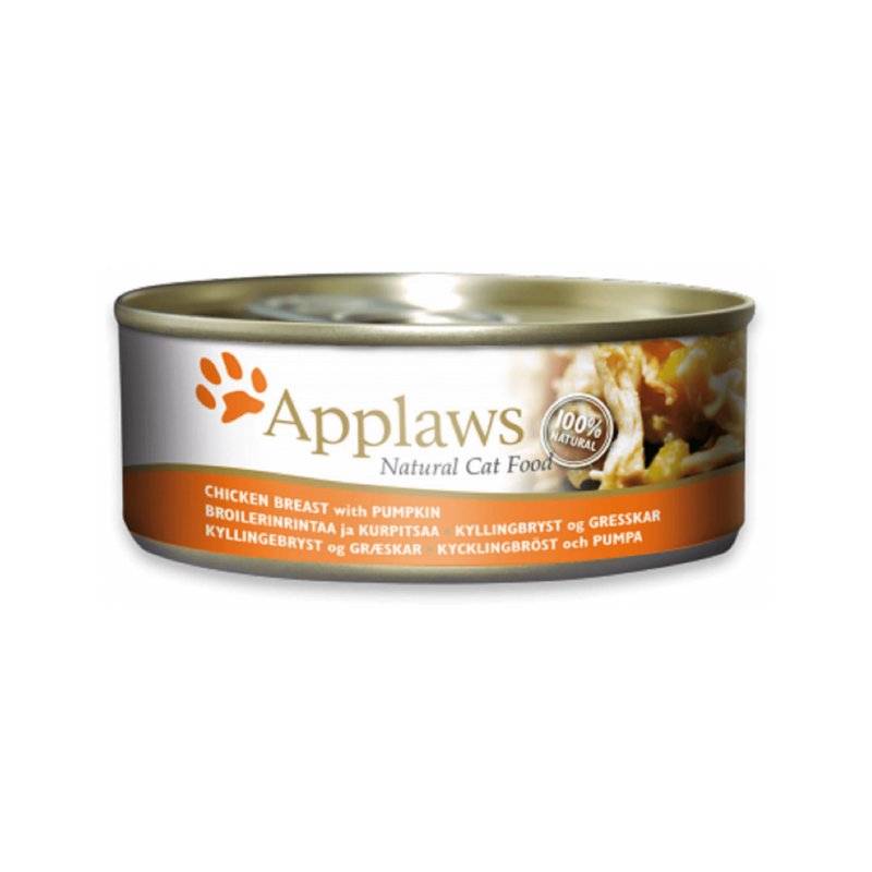 Chicken Breast w/ Pumpkin Natural Cat Food, 156g