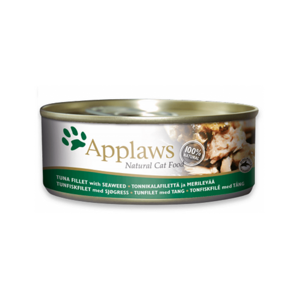 Tuna Fillet with Seaweed Natural Wet Cat Food, 156g