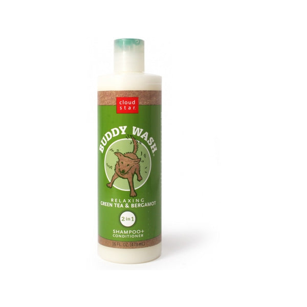 Buddy Wash Dog Shampoo - Green Tea & Bergamot, 16oz