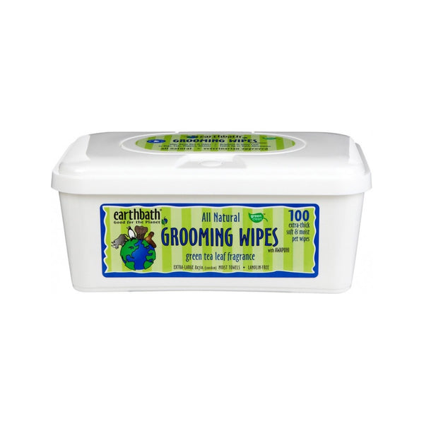 Green Tea Leaf Grooming Wipes Count, 100 wipes