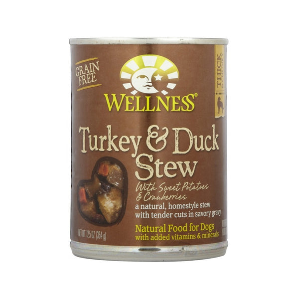 Turkey & Duck Stew with Sweet Potatoes & Cranberries Grain Free for Dogs (12.5oz)
