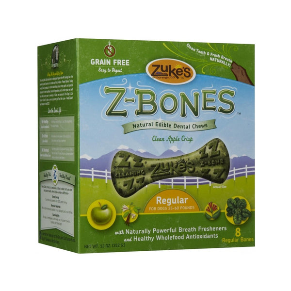 Z-Bones Clean Apple Crisp, Grain-Free for Dogs Size : Regular