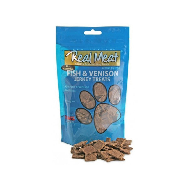 All Natural Jerky Treats - Fish & Venison, 4oz