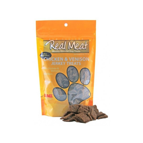 All Natural Jerky Treats - Chicken & Venison, 4oz