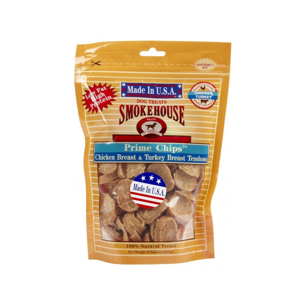Prime Chips - Chicken Breast & Turkey Breast Tendons Weight : 8oz