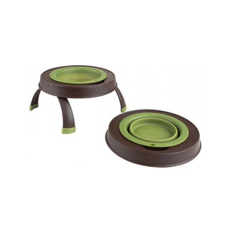Single Elevated Feeder, Color Green, Large