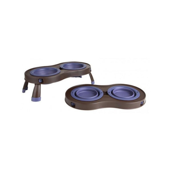 Double Elevated Feeder, Color Purple, Small