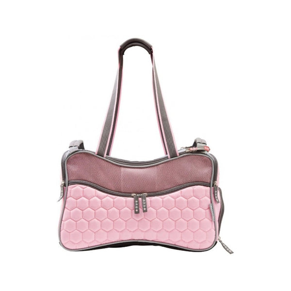Argo Petagon Airline Approved Carrier Size : Medium, Size : 17.75 x 9.5 x 11 in, Colour : Pink