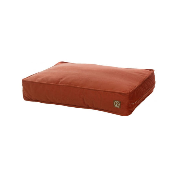 Faux Suede Classic Pillow Pet Bed, Color Orange, Medium