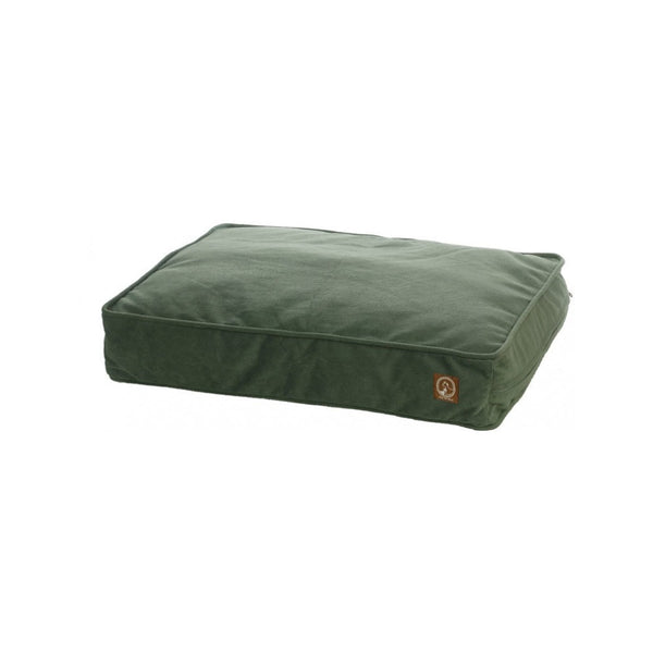 Faux Suede Classic Pillow Pet Bed, Color Green, Large