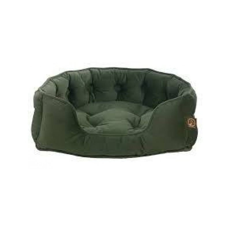 Faux Suede Snuggle Bed, Color Olive, Small