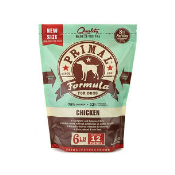 Canine Chicken Formula Patties, 6lb (Frozen)