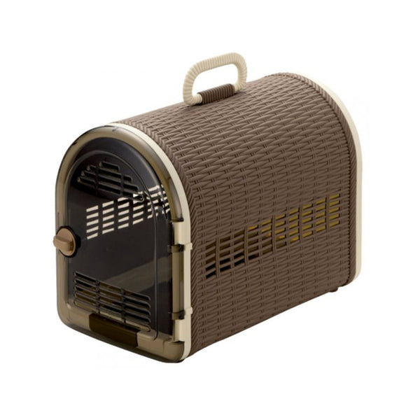 Double Doors Wicker Carrier, Color: Brown