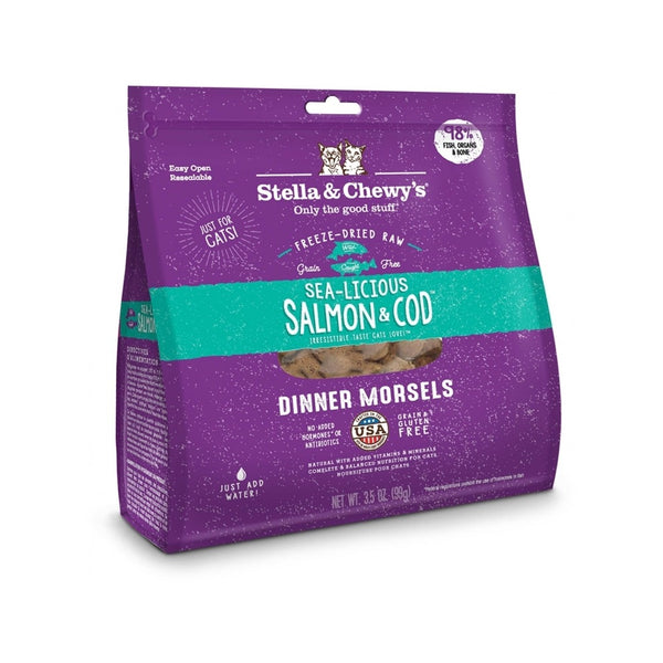 Feline Freeze-Dried Salmon & Cod Dinner Morsels, 8oz