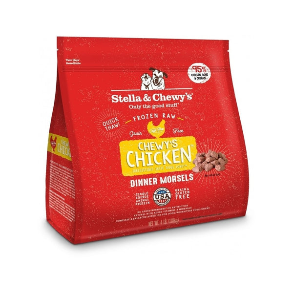 Frozen Morsels Chicken for Dogs, 4lb