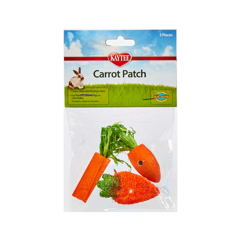 Chew Toy Carrot Patch, 3pcs