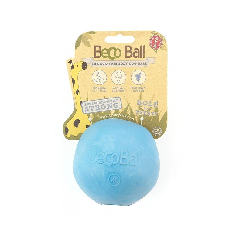 Natural Rubber Bouncy Ball, Color Blue, Small