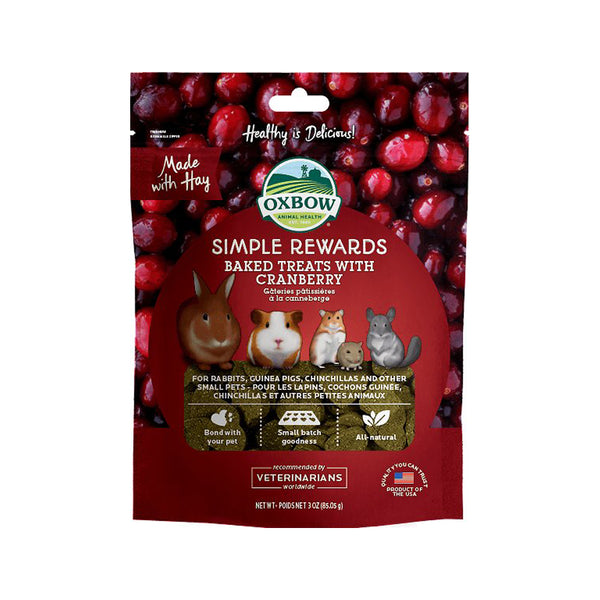 Simple Rewards Baked Treats with Cranberry, 3oz